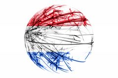 Abstract Netherlands sparkling flag, Christmas ball concept isolated on white background. Abstract Netherlands sparkling flag, Christmas ball concept isolated royalty free illustration