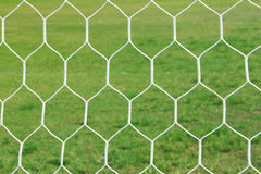 Abstract netto voetbaldoel Stock Afbeeldingen
