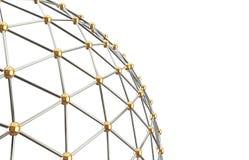 Abstract netwerk Geïsoleerde achtergrond Stock Foto's