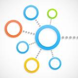 Abstract netwerk met cirkels Stock Foto