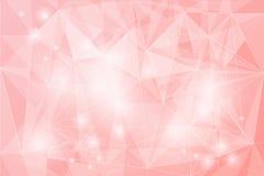 Abstract netwerk op roze achtergrond, lijn en vorm Royalty-vrije Stock Foto's