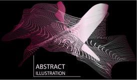 Abstract netwerk van lijnenillustratie stock illustratie