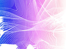 Abstract network. Chaos waves actions, place for text Royalty Free Stock Photos