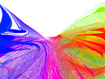 Abstract network. Chaos waves actions, place for text Stock Illustration