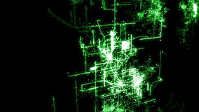 Abstract network animation stock footage