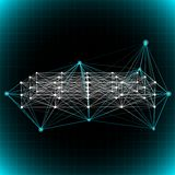 Abstract network background. Stock Image