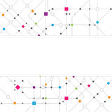 Abstract Network Background with banner Royalty Free Stock Images