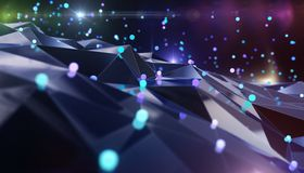Abstract network. Abstract background for technology topics Royalty Free Stock Photography