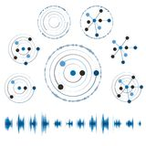 Abstract network with circles, vector eps10 Royalty Free Stock Image
