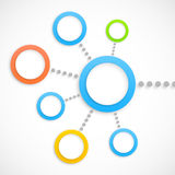 Abstract network with circles Stock Photo