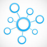 Abstract network with circles Stock Photography