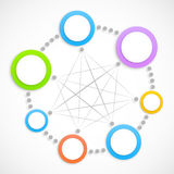Abstract network with circles royalty free illustration