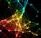 Abstract network connection background Stock Photos