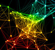 Abstract network connection background Stock Photography