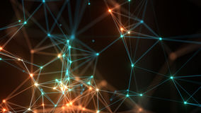 Abstract network connection background. Stock Image