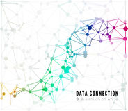Abstract network connection background Stock Image