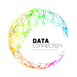 Abstract network connection background Royalty Free Stock Images