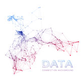 Abstract network connection background Royalty Free Stock Photos