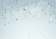 Abstract network connections perspective backgroun royalty free illustration