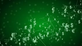 Abstract network with currency sign. 3d Abstract network with currency sign Royalty Free Stock Photos