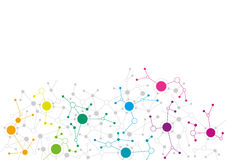 Abstract network design. With colourful dots connecting to each other Stock Photos