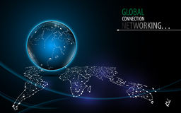 Abstract network global innovation technology tech background design Royalty Free Stock Images