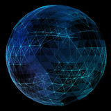 Abstract network globe Stock Images