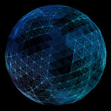 Abstract network globe. Technology concept of global communication Royalty Free Stock Images