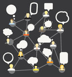 Abstract network scheme. Royalty Free Stock Images