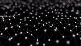 Abstract Neural Network Isolated on Black 3d Illustration Royalty Free Stock Photo