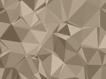 Abstract Neutral Low Poly Background. In beige royalty free illustration