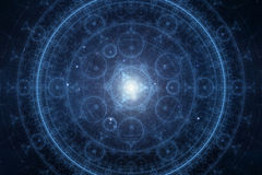 Abstract new age spiritual background. Blue colored bstract new age spiritual background Stock Image