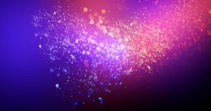 Neon, background bokeh, abstract scene. Abstract new background, scene, with glare of light and magical pollen, bright colors, on a dark background Royalty Free Stock Images