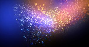 Neon, background bokeh, abstract scene. Abstract new background, scene, with glare of light and magical pollen, bright colors, on a dark background Royalty Free Stock Image