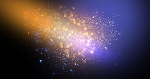 Neon, background bokeh, abstract scene. Abstract new background, scene, with glare of light and magical pollen, bright colors, on a dark background Royalty Free Stock Photo