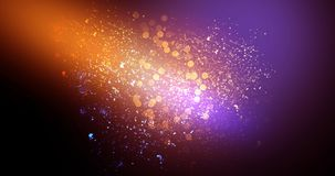 Neon, background bokeh, abstract scene. Abstract new background, scene, with glare of light and magical pollen, bright colors, on a dark background Stock Photo