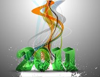 Abstract new year 2011. Colorful background Vector design royalty free illustration