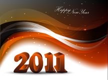 Abstract new year 2011. Colorful background Vector royalty free illustration