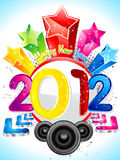 Abstract new year 2012 Royalty Free Stock Images