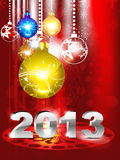 Abstract new year background. Vector illustration Stock Photos