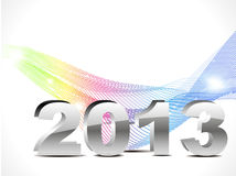 Abstract new year background with colorful wave. Vector illustration Royalty Free Illustration