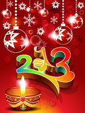 Abstract new year background with deepak. Vector illustration stock illustration