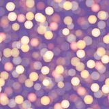 Abstract New Year background with defocused night lights. Vector.  Stock Photos