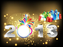 Abstract new year background with gifts Stock Images