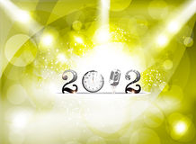 Abstract new year background with spot light Stock Images