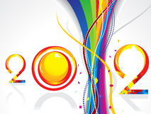 Abstract new year background with wave. Vector illustration Stock Illustration