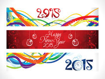 Abstract new year banners set Royalty Free Stock Images