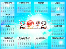 Abstract new year calender. Vector illustration Royalty Free Stock Photo