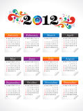 Abstract new year calender. Vector illustration Royalty Free Stock Images