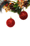 Abstract new year and christmas background. Isolated over white background Stock Images